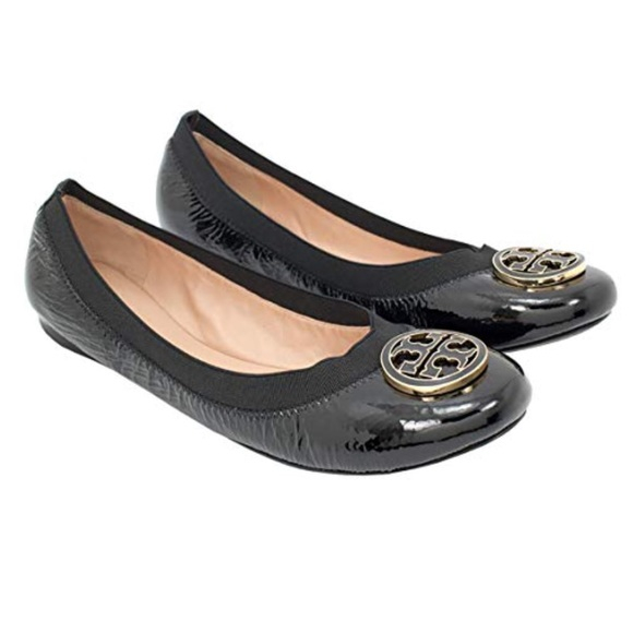 38b077d540efa3 ❗️Tory Burch Black Leather Ballet Flats MSRP  295!